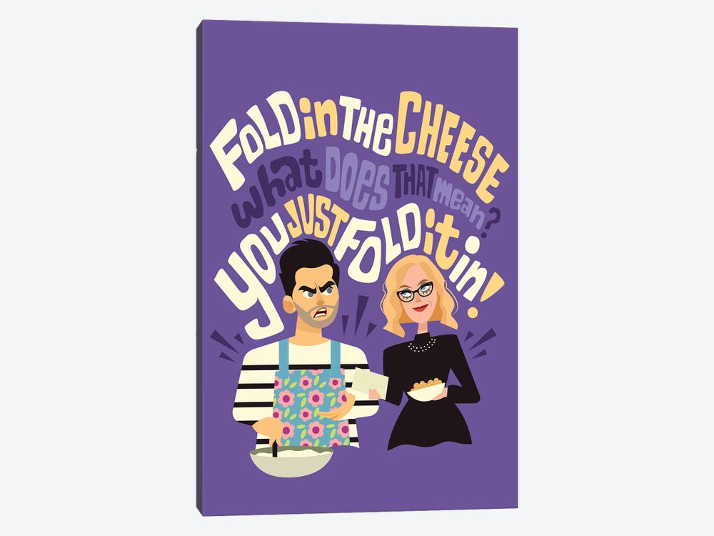 Fold In The Cheese by Risa Rodil 1-piece Canvas Art Print