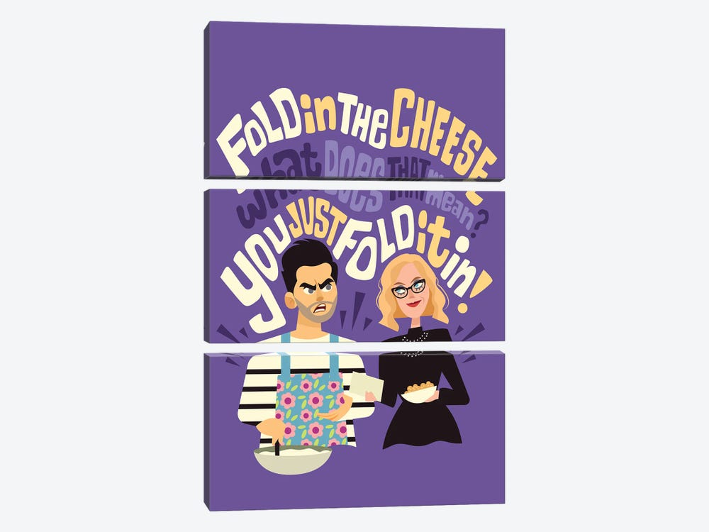 Fold In The Cheese by Risa Rodil 3-piece Canvas Print
