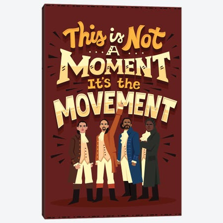 It's The Movement Canvas Print #RRO88} by Risa Rodil Canvas Art