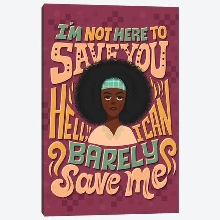 I Can Barely Save Me Canvas Print #RRO99} by Risa Rodil Canvas Art Print
