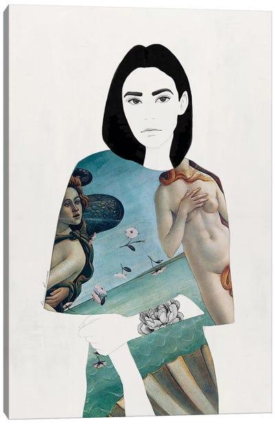 The Girl With Black Hair Canvas Art Print