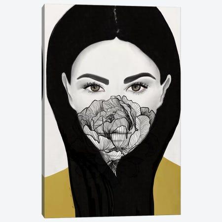 Thylane Mask On Canvas Print #RRU18} by Ramona Russu Art Print