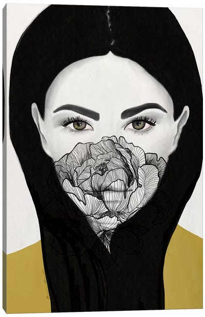 Thylane Mask On Canvas Art Print