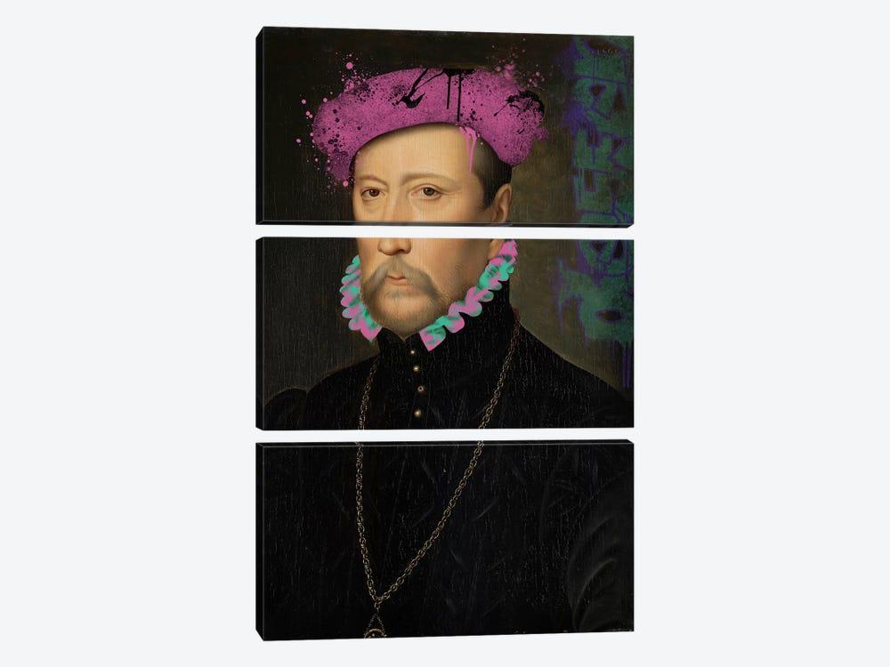 François de Scépeaux -The Detailed Self Portrait by 5by5collective 3-piece Canvas Print