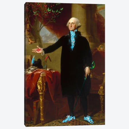 George Washington -The Man who Cut down the Cherry Tree Canvas Print #RRX15} by 5by5collective Canvas Print