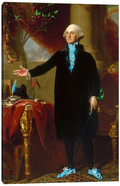 George Washington -The Man who Cut down the Cherry Tree Canvas Art Print