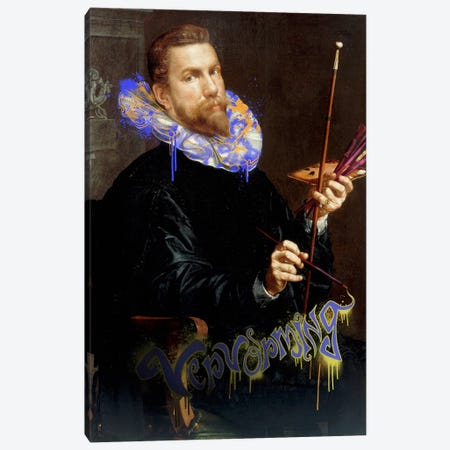 Self-Portrait -The Man and his Creative Brush Canvas Print #RRX19} by 5by5collective Canvas Artwork