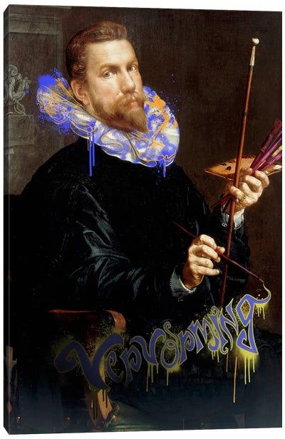 Self-Portrait -The Man and his Creative Brush Canvas Art Print