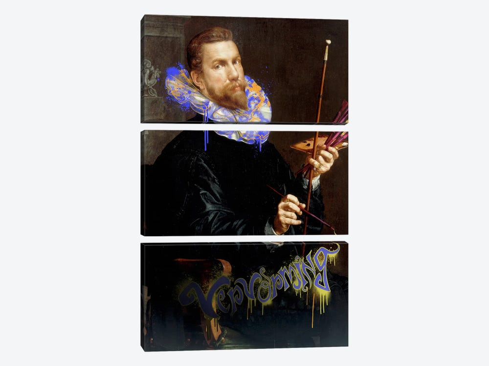 Self-Portrait -The Man and his Creative Brush by 5by5collective 3-piece Art Print