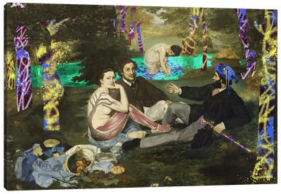 The Luncheon on the Grass -Picnic with the Neighbors  Canvas Print #RRX22