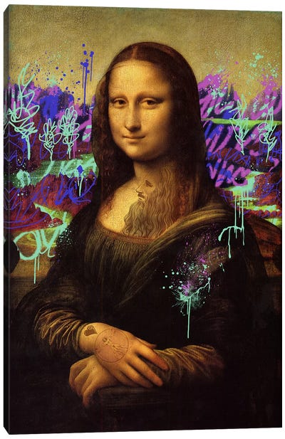 Mona Lisa -The Perfect Smile Canvas Art Print