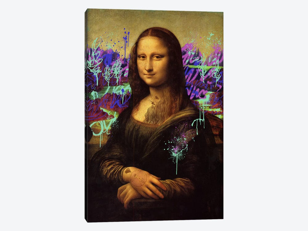 Mona Lisa -The Perfect Smile by 5by5collective 1-piece Art Print