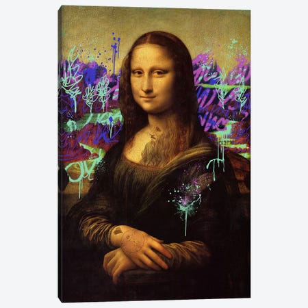 Mona Lisa -The Perfect Smile Canvas Print #RRX26} by 5by5collective Canvas Artwork