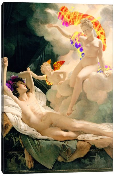 Morpheus and Iris - Messenger of the Gods and God of Dreams Canvas Art Print