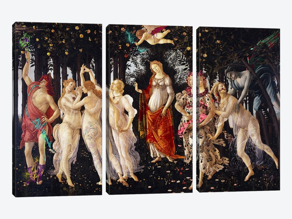 Primavera -The Celebration of Spring by 5by5collective 3-piece Canvas Artwork