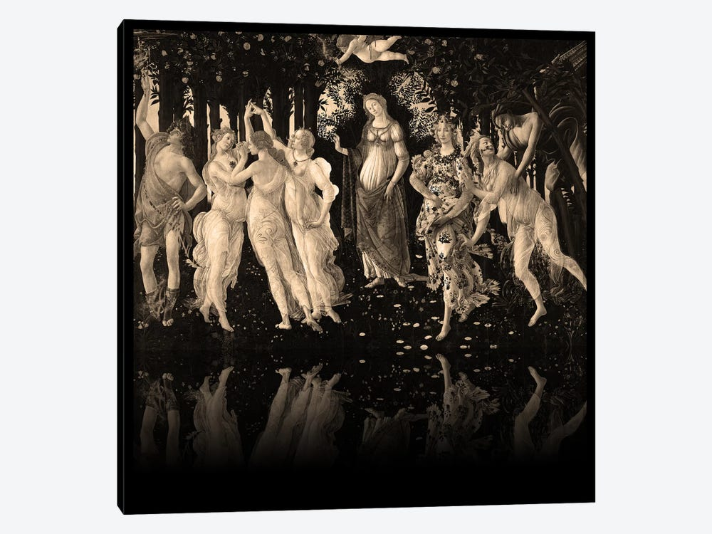 Primavera -The Celebration of Spring Sepia by 5by5collective 1-piece Canvas Print