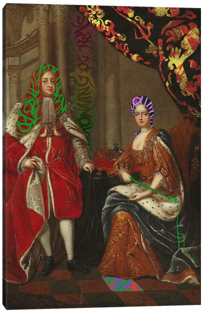 Queen Anne and Prince George -The Royal Couple Canvas Print #RRX32