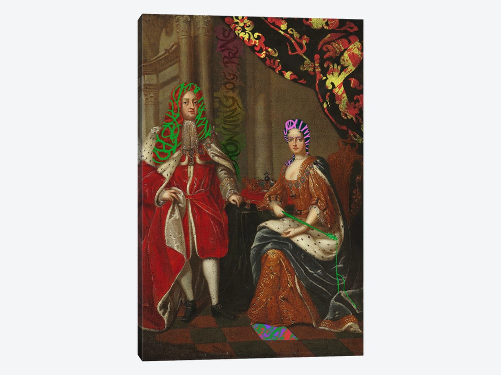 Queen Anne and Prince George -The Royal Couple by 5by5collective 1-piece Canvas Artwork