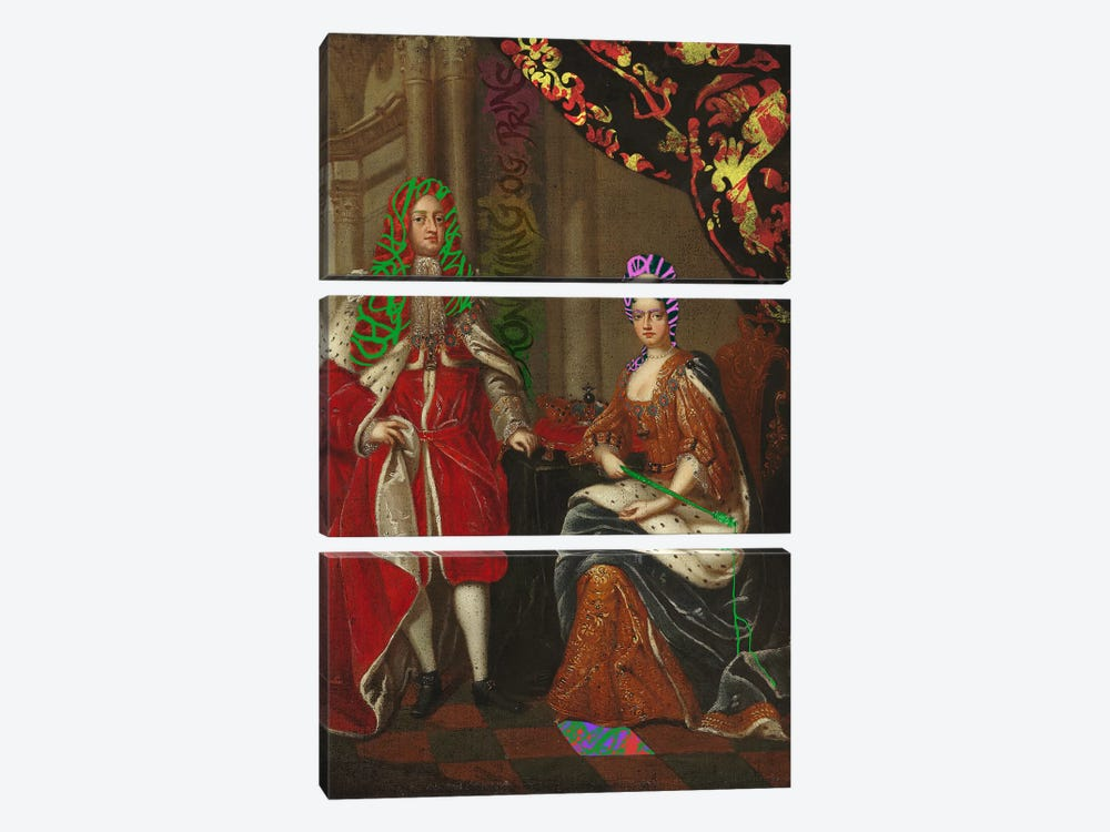 Queen Anne and Prince George -The Royal Couple by 5by5collective 3-piece Canvas Wall Art