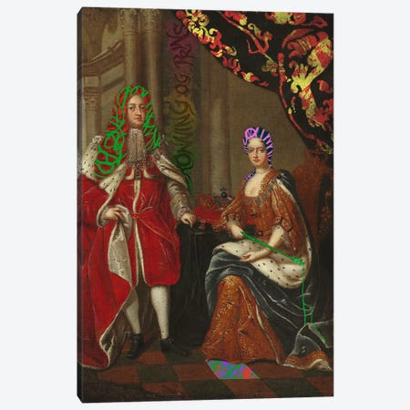 Queen Anne and Prince George -The Royal Couple Canvas Print #RRX32} by 5by5collective Canvas Wall Art