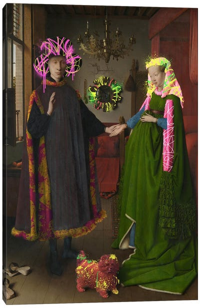 The Arnolfini Portrait -Double Wedding Portrait Canvas Art Print