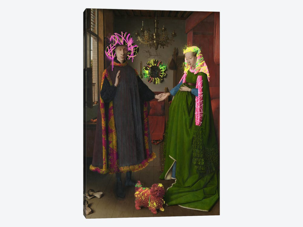 The Arnolfini Portrait -Double Wedding Portrait by 5by5collective 1-piece Canvas Print