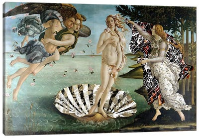 The Birth of Venus -The Lady on the Seashell  Canvas Print #RRX34