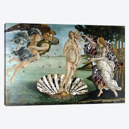 The Birth of Venus -The Lady on the Seashell  Canvas Print #RRX34} by 5by5collective Canvas Art Print