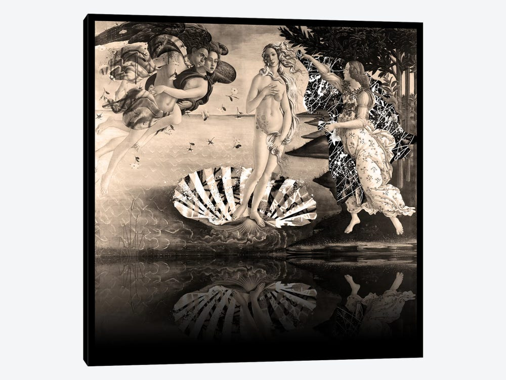 The Birth of Venus -The Lady on the Seashell Sepia by 5by5collective 1-piece Canvas Art