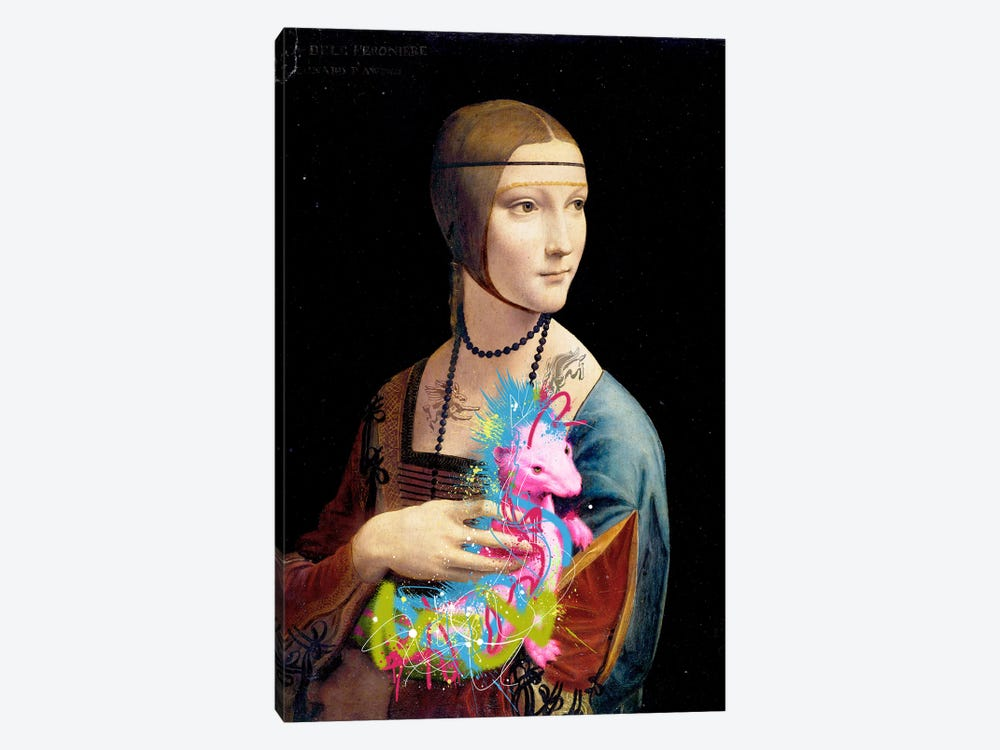 Lady with an Ermine -The Rocking Stoat vertical by 5by5collective 1-piece Canvas Print