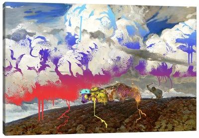 Soil -The Two Cows Plowing Soil  Canvas Art Print