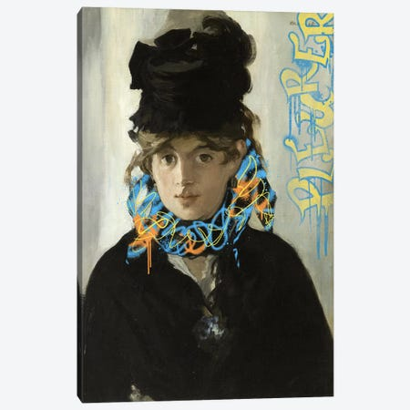 Berthe Morisot with a Bouqet of Violets -Lady in Black Dress Canvas Print #RRX3} by 5by5collective Canvas Artwork
