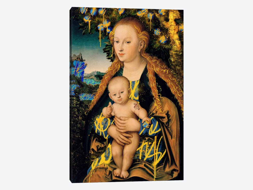 The Virgin and Child under an Apple Tree -The Mother and Son under an Apple Tree by 5by5collective 1-piece Canvas Artwork