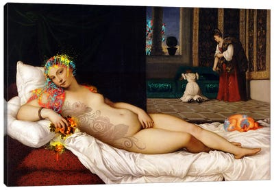 Venus of Urbino -The Lady waiting to be Dressed  Canvas Art Print