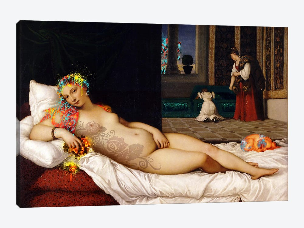 Venus of Urbino -The Lady waiting to be Dressed  by 5by5collective 1-piece Canvas Art