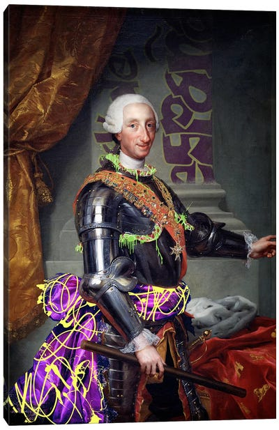 Portrait of Charles III of Spain -King of Spain with a Fancy Wardrobe Canvas Art Print