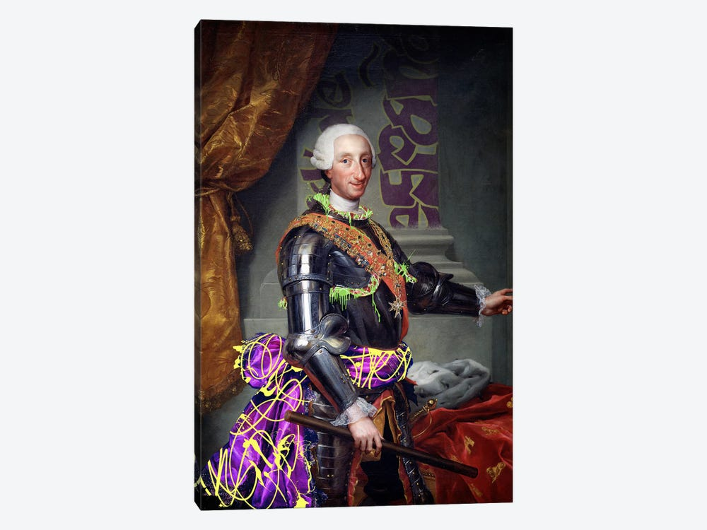 Portrait of Charles III of Spain -King of Spain with a Fancy Wardrobe by 5by5collective 1-piece Canvas Artwork