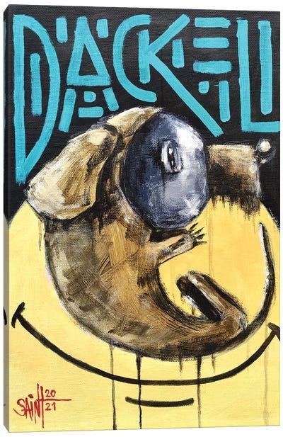 Dackel Canvas Art Print