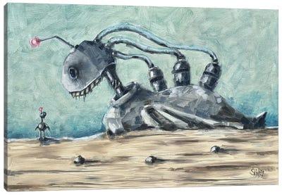 Desert Duck Canvas Art Print
