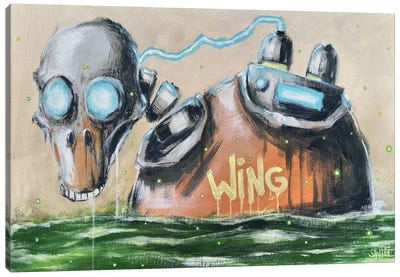 Duck Robot Canvas Art Print