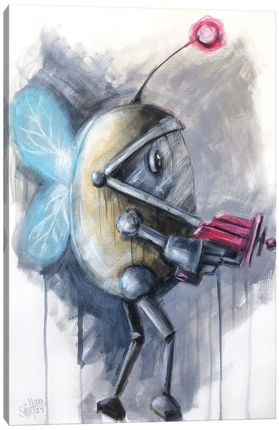 Fly Robot Canvas Art Print