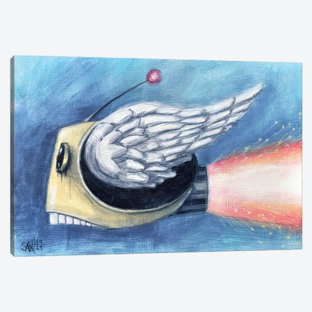 Flying Head Canvas Print #RSA26} by Ruslan Aksenov Canvas Wall Art