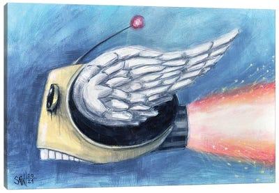 Flying Head Canvas Art Print