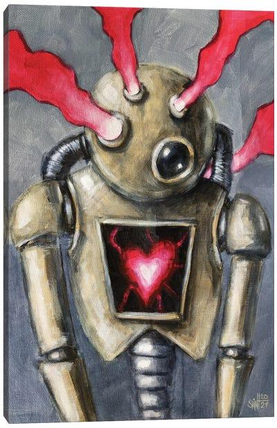 Heart Shape Bot Canvas Art Print