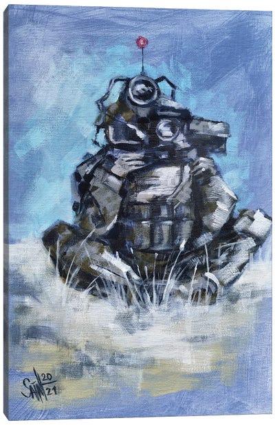 Military Robot Canvas Art Print
