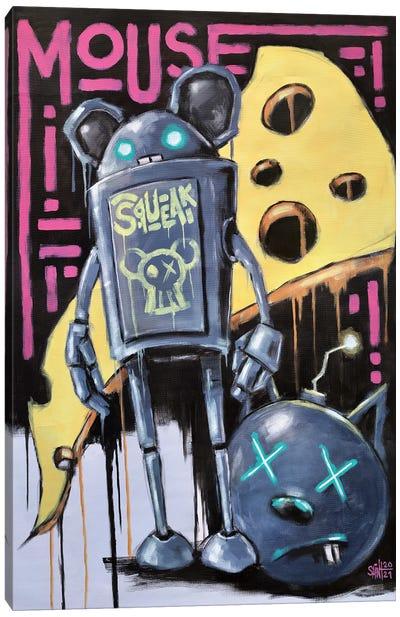 Mouse Robot Canvas Art Print
