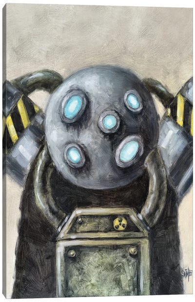 Multi-Eyed Robot Canvas Art Print