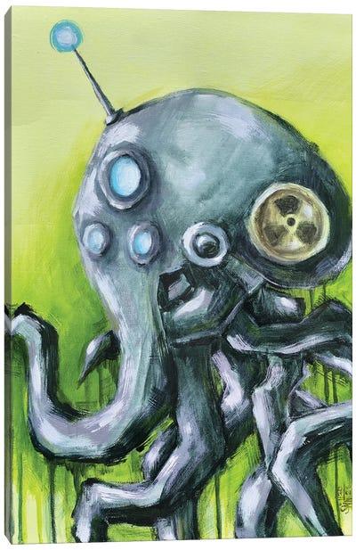 Octopus Robot Canvas Art Print