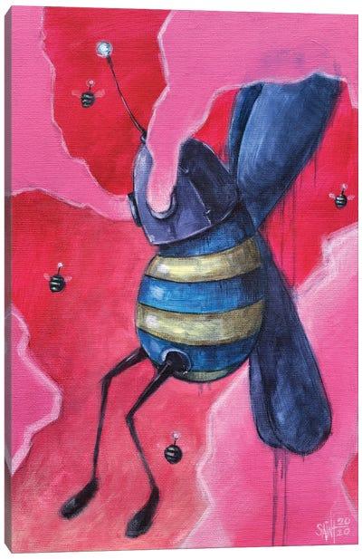 Bee Bot Canvas Art Print