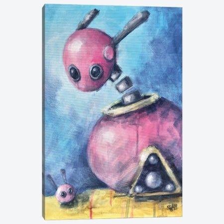 Pink Bunnies Canvas Print #RSA43} by Ruslan Aksenov Canvas Art Print